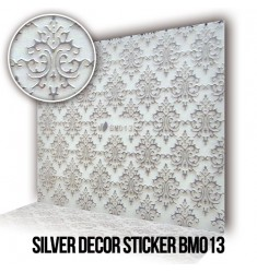 Silver Decor Sticker BM013
