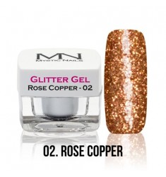 Glitter Gel - 02 Rose Copper