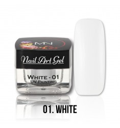 Nail Art Gel - 01 White