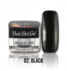 Nail Art Gel - 02 Black