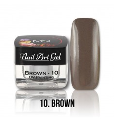 Nail Art Gel - 10 Brown